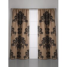 Enchantique Jute Rod Pocket Single Curtain Panel