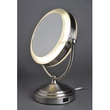 8x/1x Lighted Vanity Mirror with Out Outlet