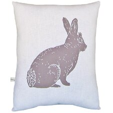Bunny Block Print Squillow Accent Cotton Throw Pillow