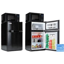 Safe Plug 3.1 cu. ft. Combination Mini Refrigerator and Microwave