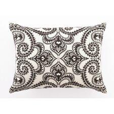Embroidered Amalfi Linen Lumbar Pillow