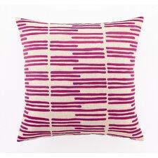 Grass Blades ed Embroidered Linen Pillow