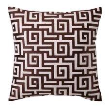 Embroidered Greek Linen Throw Pillow