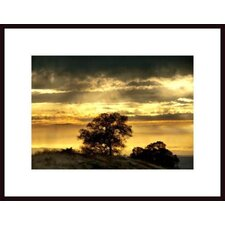 'Virga Rain at Sunset' by John Nakata Framed Photographic Print