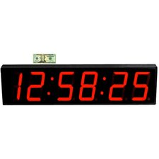 """Large 8"""" Digit LED with Remote Control Clock"""
