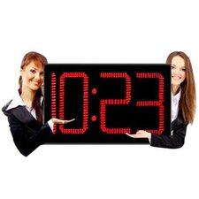 """Huge 12"""" LED Digits Indoor/Outdoor Clock"""