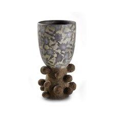 Sedona Pottery Unique Leaf Print Vase