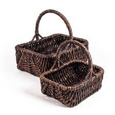 Patina Rectangular Water 2 Piece Hyacinth Basket Set