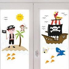 Pirates of the Window Sticker
