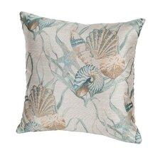 Coastal Sea Shells Indoor/Outdoor Throw Pillow