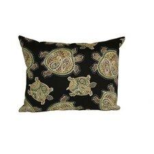 Coastal Tranquil Turtles Indoor/Outdoor Lumbar Pillow