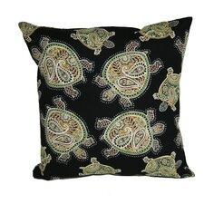Coastal Tranquil Turtles Indoor/Outdoor Throw Pillow