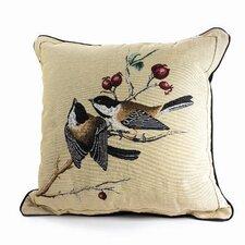 Bird Watchers Chickadee Throw Pillow
