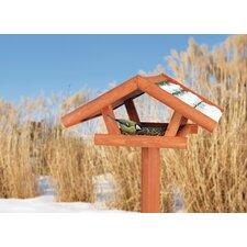 Traditional Wooden Bird Feeder