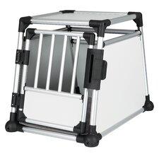 Scratch-Resistant Metallic Pet Crate