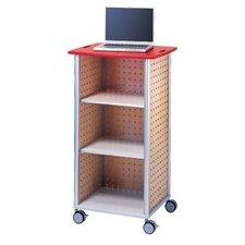 Wheelies® AV Media Cart with An Open Front and 2 Adjustable Shelves