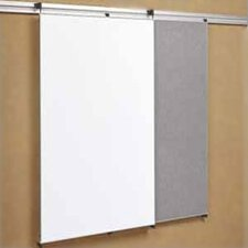 Tactics Plus® Track Tackable Panel/Writing Wall Mounted Magnetic Whiteboard, 4' x 3'