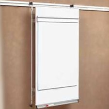 Tactics Plus® Track Level 2 Flip Chart Wall Mounted Whiteboard, 4' x 3'