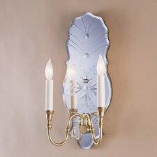 2 Light Venetian Mirror Wall Sconce