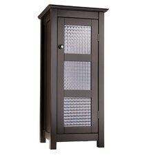 Chesterfield Floor Cabinet with 1 Glass Door