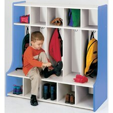 1000 Series 1 Tier 5-Section Cubbie Floor Locker