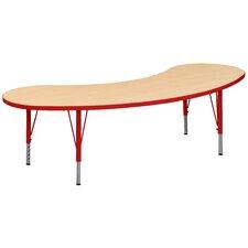"Play 72"" x 24"" Kidney Classroom Table"