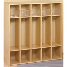 Eco 1 Tier 5-Section Preschool Locker