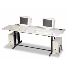 "Split Level Adjustable 72"" W x 36"" D Training Table"