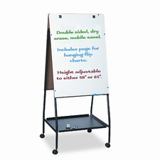 Best-Rite® Wheasel® Easel Dry Casters Mobile Free Standing Whiteboard, 5' x 2'