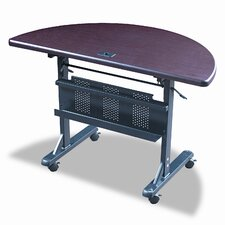 "Flipper Half-Round 48"" W x 24"" D Training Table"