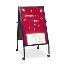 """Easel W/Wheels, Double-sided, 2"""" Casters, Blue"""