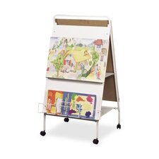 Display Easel W/ Wheels, Double-sided W/Marker Tray