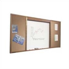 Conference Room Enclosed Wall Mounted Whiteboard, 4' x 8'