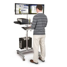 Adjustable Beta Cart 2 Screen Monitor Mount AV Cart