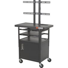 Adjustable Height Flat Panel AV Cart