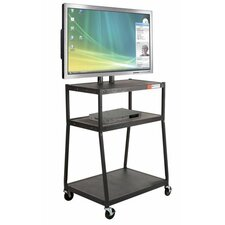 Wide Body Flat Panel AV Cart