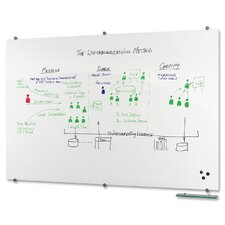 Visionary Magnetic Wall Mounted Whiteboard, 4' x 6'