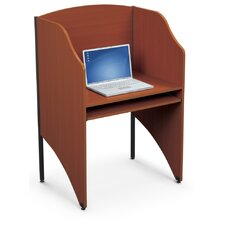 Add-A-Carrel Cherry Laminate Study Carrel Desk