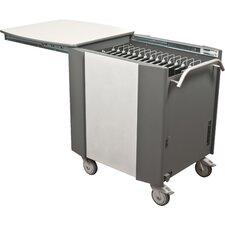 32-Compartment Laptop Charging Cart