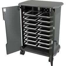 16-Compartment Laptop Charging Cart