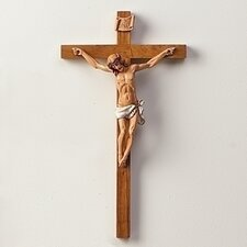 "15"" Woodtone Crucifix"