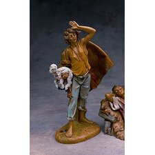 "12"" Scale Viewing Micah with Lamb Figurine"