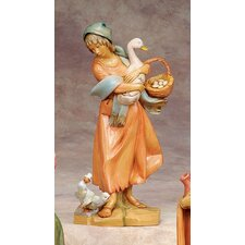 "12"" Scale Deborah with Duck and Basket Figurine"