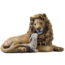 Lion and Lamb Figurine