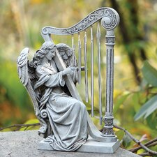 Angel with Harp Chimes Decoration