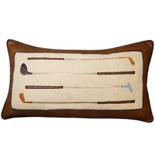 In the Fairway Vintage Golf Irons Throw Pillow