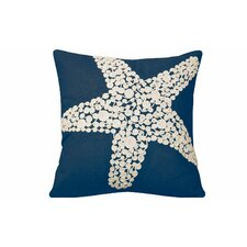 I Sea Life Knotted Rope Starfish Linen Throw Pillow