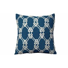 I Sea Life Nautical Rope Patterned Throw Pillow
