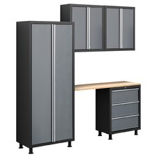 Bold Series 5 Piece Cabinet Set with Locker