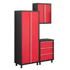 Bold Series 6' H x 5' W x 1.5' D 3-Piece Tool Cabinet Set